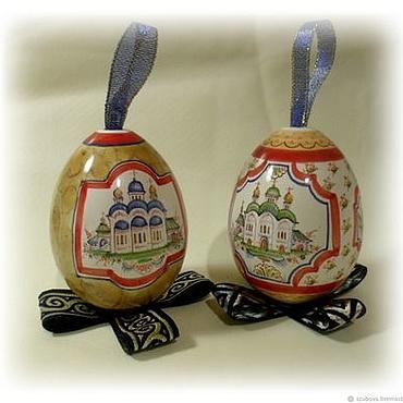 Подарки к праздникам handmade. Livemaster - original item Eggs porcelain majolica - a great gift for Easter and Christmas. Handmade.