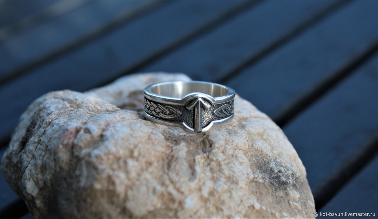 Ring amulet with rune. 925 sterling silver, Rings, Moscow,  Фото №1
