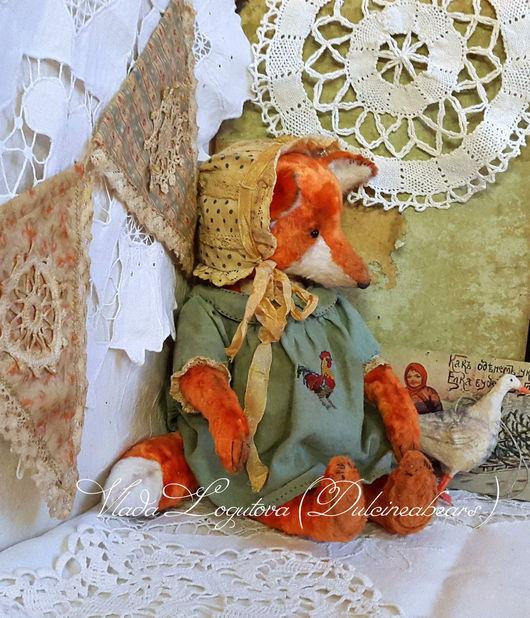 Мишки Тедди ручной работы. Ярмарка Мастеров - ручная работа. Купить Лиса Анисья/Резерв/. Handmade. Рыжий, ooak, винтажный плюш