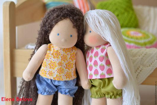Одежда для кукол ручной работы. Ярмарка Мастеров - ручная работа. Купить Комплект одежды для вальдорфской куклы. Handmade. Комбинированный, трусы