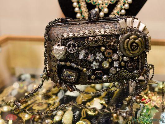 Винтажные сумки и кошельки. Ярмарка Мастеров - ручная работа. Купить Сумочка Mary Frances. Handmade. Комбинированный, сумка с декором, Аппликация