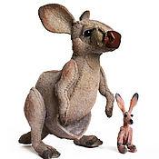 Куклы и игрушки handmade. Livemaster - original item Interior toy, kangaroo cook and baby, made of felt. Handmade.