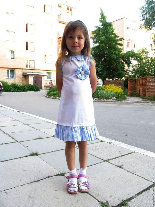 Одежда для девочек, ручной работы. Ярмарка Мастеров - ручная работа. Купить летнее платье для девочки. Handmade. Белый, платье летнее