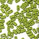 Для украшений ручной работы. Ярмарка Мастеров - ручная работа. Купить Чешские бусины Бриксы 3x6mm Оливин CzechMates Bricks 50шт. Handmade.