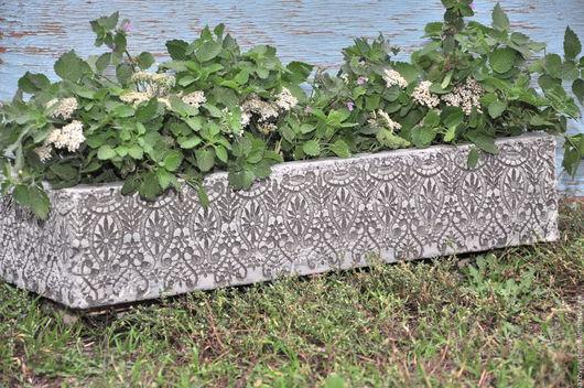 Кашпо ручной работы. Ярмарка Мастеров - ручная работа. Купить Кашпо для растений из бетона ажурное Прованс под старину. Handmade.