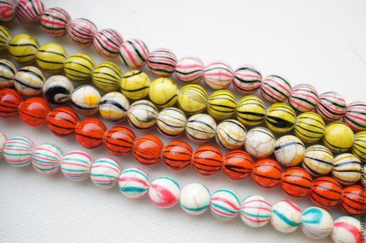 Для украшений ручной работы. Ярмарка Мастеров - ручная работа. Купить Керамика бусина шар 10мм в ассортименте. Handmade. Керамика