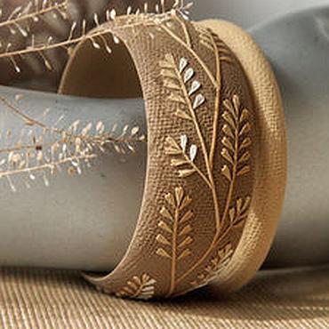 """Украшения ручной работы. Ярмарка Мастеров - ручная работа Комплект браслетов """"Жар-трава"""" из полимерной глины. Handmade."""
