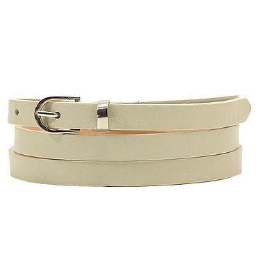 Accessories handmade. Livemaster - original item Copy of Copy of White leather belt. Handmade.