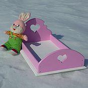 Куклы и игрушки ручной работы. Ярмарка Мастеров - ручная работа Кроватка для кукол «Волшебная». Handmade.
