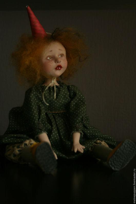 Коллекционные куклы ручной работы. Ярмарка Мастеров - ручная работа. Купить Цирк уехал.... Handmade. Тёмно-зелёный