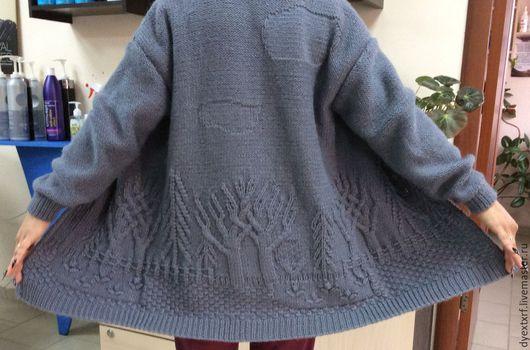 """Кофты и свитера ручной работы. Ярмарка Мастеров - ручная работа. Купить Кардиган """"Волшебный лес"""". Handmade. Кардиган, кардиган на пуговицах"""