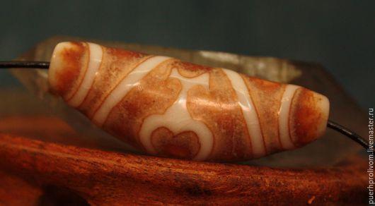 """Для украшений ручной работы. Ярмарка Мастеров - ручная работа. Купить Тибетская древняя  бусина Дзи (Зи) """"2 СОСУДА"""". Handmade."""