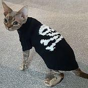Зоотовары handmade. Livemaster - original item Skullcap sweater for animals(any color). Handmade.