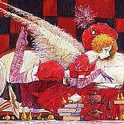 Картины и панно ручной работы. Ярмарка Мастеров - ручная работа Красное и черное или чашечка утреннего кофе. Handmade.