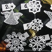 Для дома и интерьера ручной работы. Ярмарка Мастеров - ручная работа Новогодние снежинки и ангелочки. Handmade.