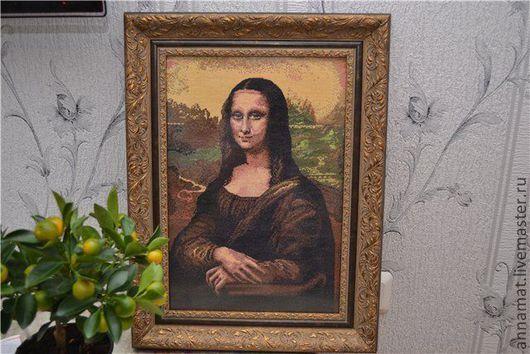 Репродукции ручной работы. Ярмарка Мастеров - ручная работа. Купить Вышивка крестом Мона Лиза (Джоконда). Handmade. Вышивка крестом