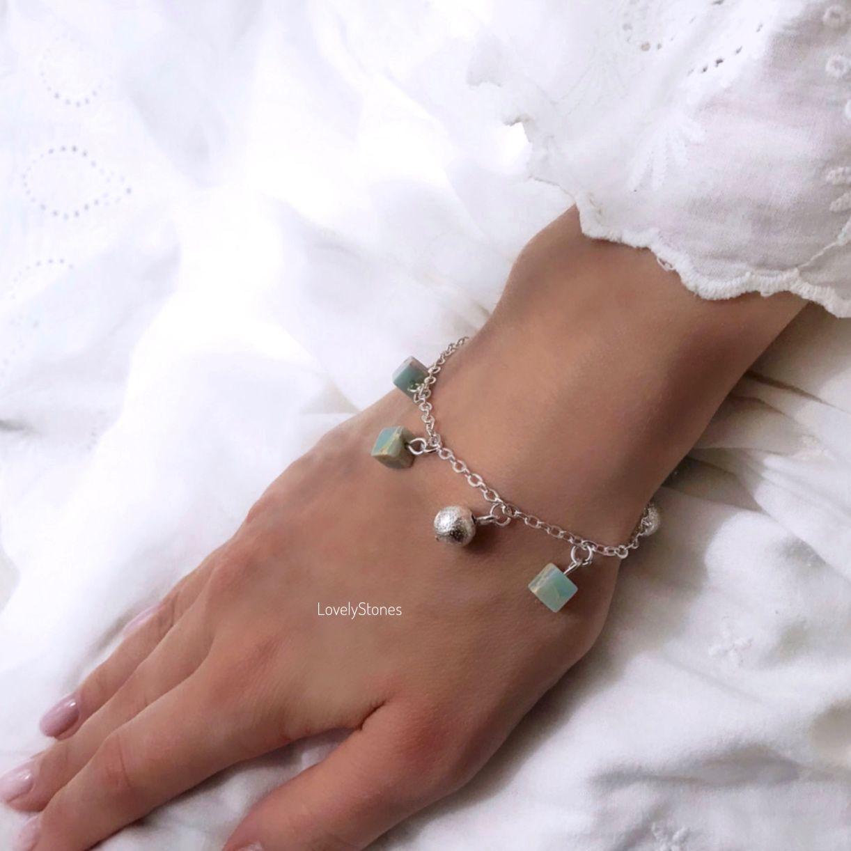 Delicate mint bracelet on a chain with pendants, Chain bracelet, Yaroslavl,  Фото №1