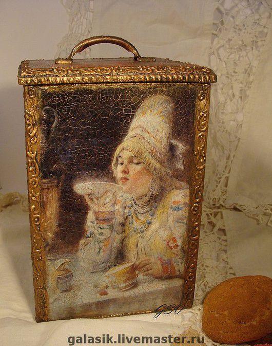 """Кухня ручной работы. Ярмарка Мастеров - ручная работа. Купить Короб чайный """"Русский чай """". Handmade. Для дома"""