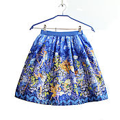 Одежда детская handmade. Livemaster - original item Elegant skirt for girls with fairies made of American cotton. Handmade.