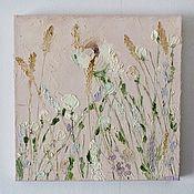 Картины и панно handmade. Livemaster - original item Light pink pattern flowers buy beige. Handmade.
