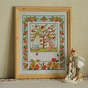 """Для дома и интерьера ручной работы. Ярмарка Мастеров - ручная работа Вышитая картина """" Яблоневый сад"""". Handmade."""