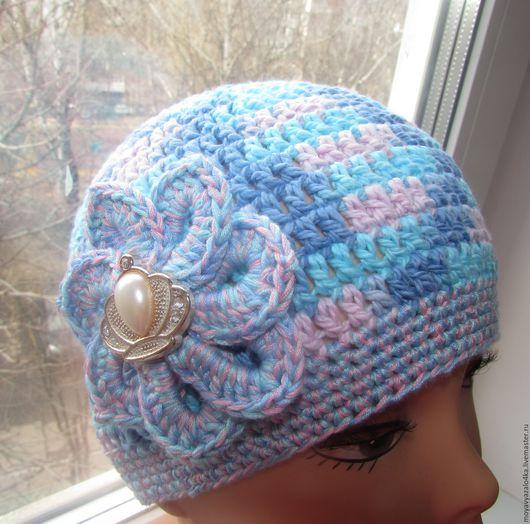 Шапки и шарфы ручной работы. Ярмарка Мастеров - ручная работа. Купить Весенняя шапочка из 100 % хлопка. Handmade. Комбинированный
