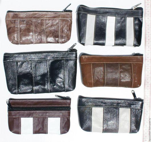 Кошельки и визитницы ручной работы. Ярмарка Мастеров - ручная работа. Купить Кожаный кошелёк тёмного цвета, с замочком, размер 17х10 см. Handmade.