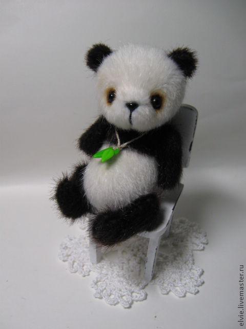 Мишки Тедди ручной работы. Ярмарка Мастеров - ручная работа. Купить Панда.. Handmade. Мини пандочка, панда тедди