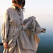 """Одежда ручной работы. Ярмарка Мастеров - ручная работа Легкое льняное пальто """" Бохо шик"""". Handmade."""