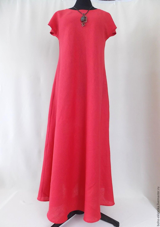 Как сшить длинное льняное платье
