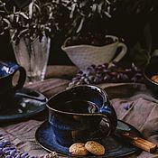 Посуда handmade. Livemaster - original item teacups: 300 ml mug, saucer. Handmade.
