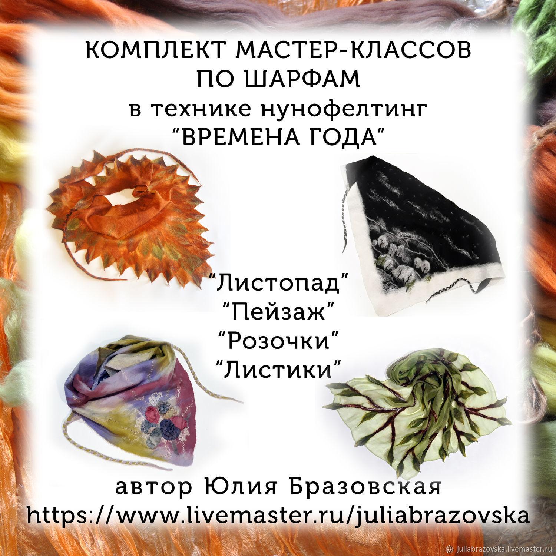 4 Мастер-класса по нунофелтингу в формате PDF. Комплект мк, Войлок, Санкт-Петербург,  Фото №1
