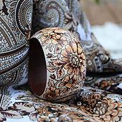 Украшения ручной работы. Ярмарка Мастеров - ручная работа Браслет под павловопосадский платок. Handmade.