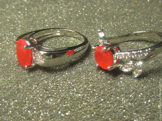 Кольца ручной работы. Ярмарка Мастеров - ручная работа. Купить кольцо с рубином. Handmade. Ярко-красный, кольцо с камнем