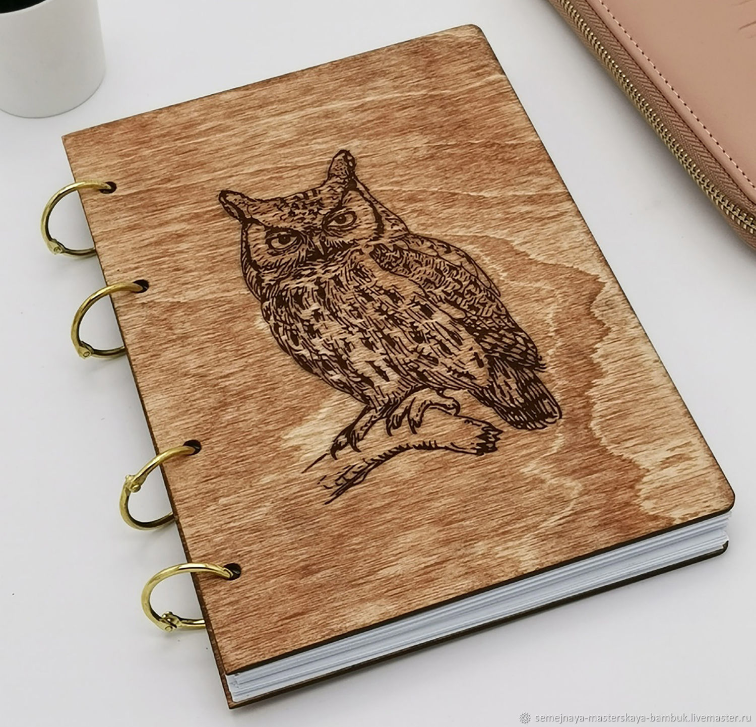 Notebook with wooden cover on rings, Notebooks, Krasnodar,  Фото №1