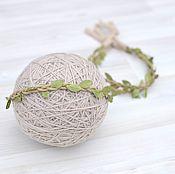 Работы для детей, handmade. Livemaster - original item The meditates, wearing for the photo shoot of newborns Laurel wreath. Handmade.