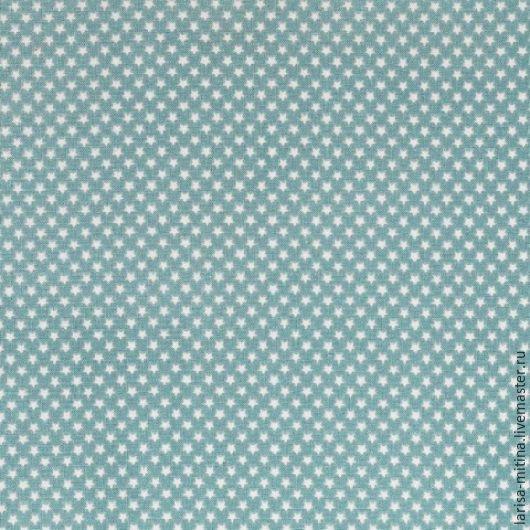 Шитье ручной работы. Ярмарка Мастеров - ручная работа. Купить Ткань Тильда Mini Star Teal. Handmade. Разноцветный