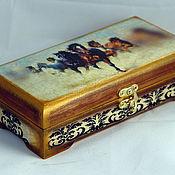 Для дома и интерьера handmade. Livemaster - original item The box is wooden for money (copernica). Handmade.