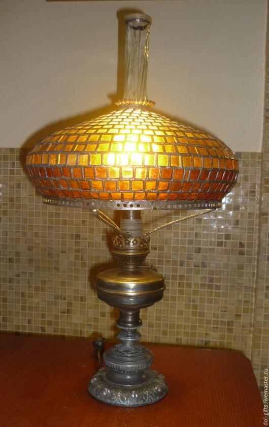 Освещение ручной работы. Ярмарка Мастеров - ручная работа. Купить Лампа настольная в стиле Тиффани. Handmade. Комбинированный, подарок