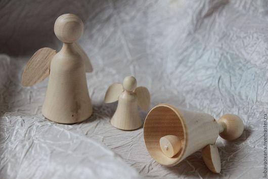 Декупаж и роспись ручной работы. Ярмарка Мастеров - ручная работа. Купить Ангелок-колокольчик, маленький ангелок. Handmade. Белый, ангелочек