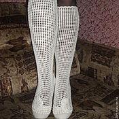 Обувь ручной работы. Ярмарка Мастеров - ручная работа Вязаные крючком сапожки. Handmade.
