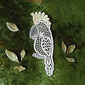 Картины и панно handmade. Livemaster - original item Cockatoo. A parrot. Bobbin lace. Handmade.