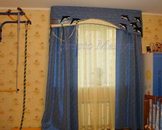 Текстиль, ковры ручной работы. Ярмарка Мастеров - ручная работа. Купить А дельфины мокрые....... Handmade. Тёмно-синий