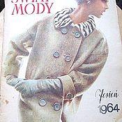 Винтаж ручной работы. Ярмарка Мастеров - ручная работа Журнал Swiat Mody февраль 1964 №61 года на польском языке. Handmade.