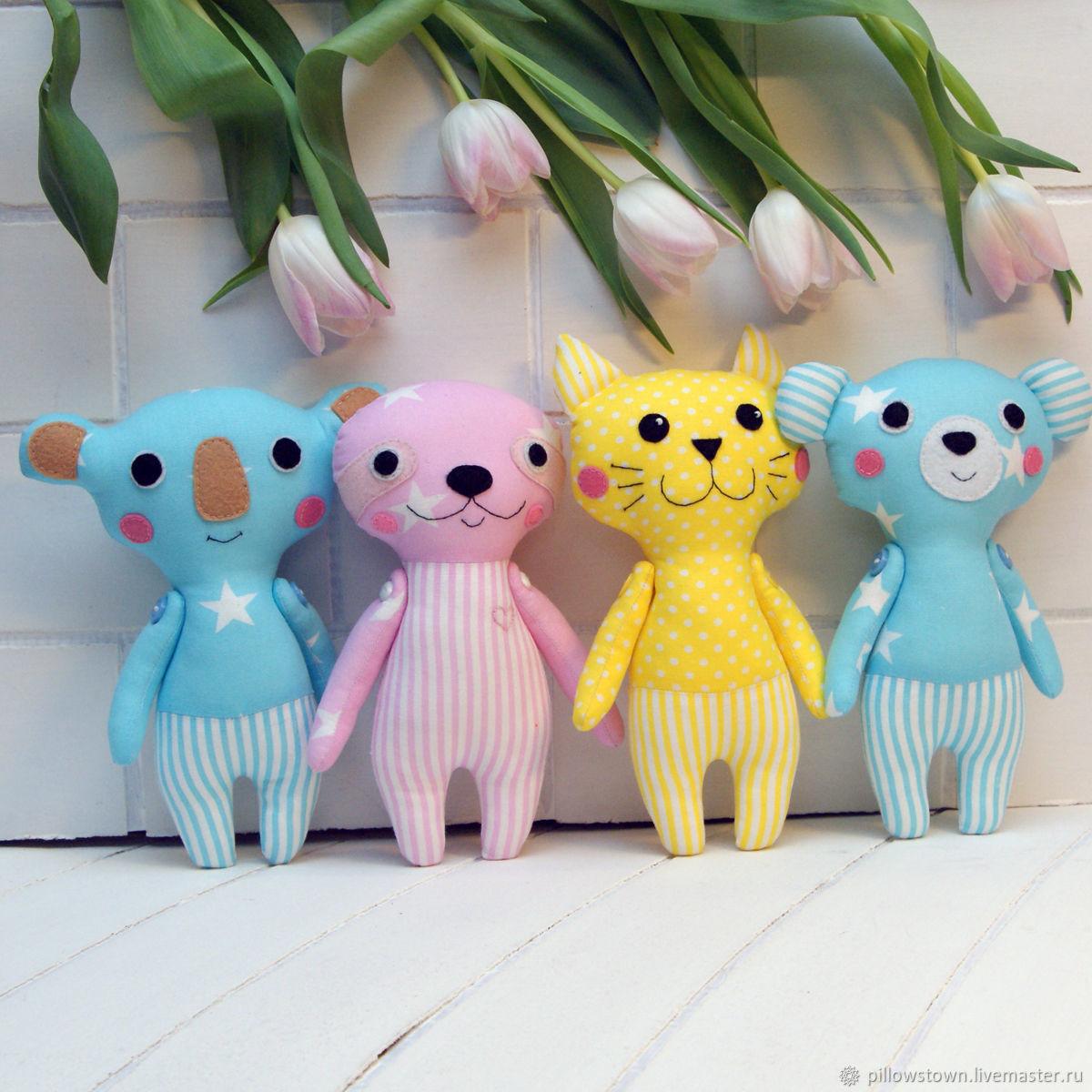Солнечные малыши - коала, мишка, котик и ленивец, Игрушки, Санкт-Петербург, Фото №1