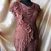 Одежда ручной работы. Ярмарка Мастеров - ручная работа Валяное платье Lady Charm. Handmade.