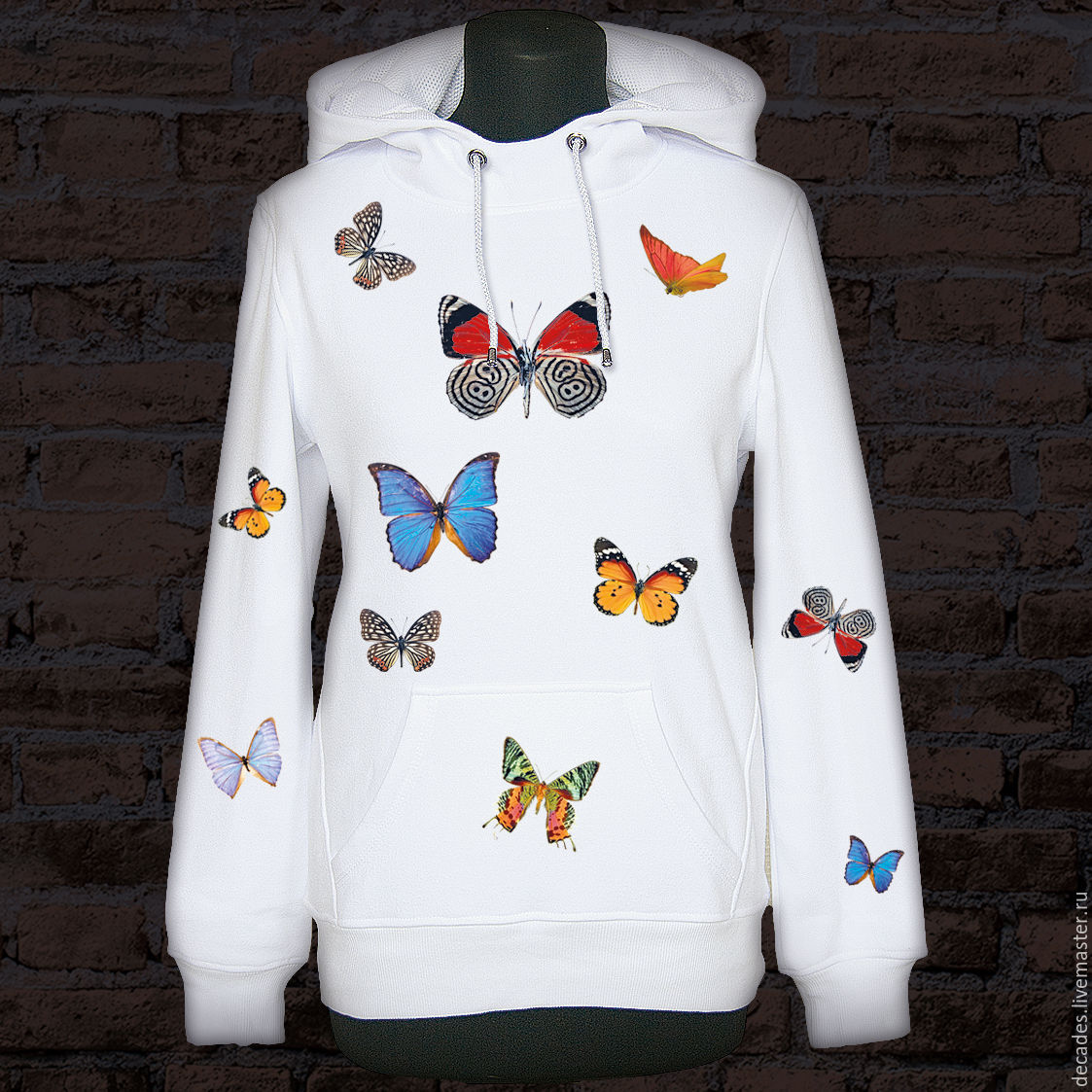 Butterfly hoodie In the snow, Jumpers, Moscow,  Фото №1