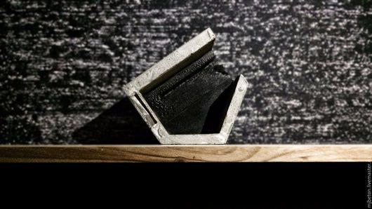 Прихожая ручной работы. Ярмарка Мастеров - ручная работа. Купить Ключница из бетона и дерева. Handmade. Серый, дерево