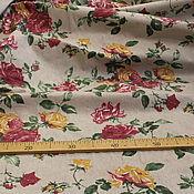 Материалы для творчества handmade. Livemaster - original item Large roses linen fabric. Handmade.