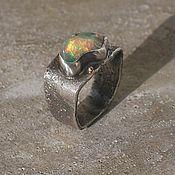 Украшения handmade. Livemaster - original item Opal ring, silver and gold. Handmade.